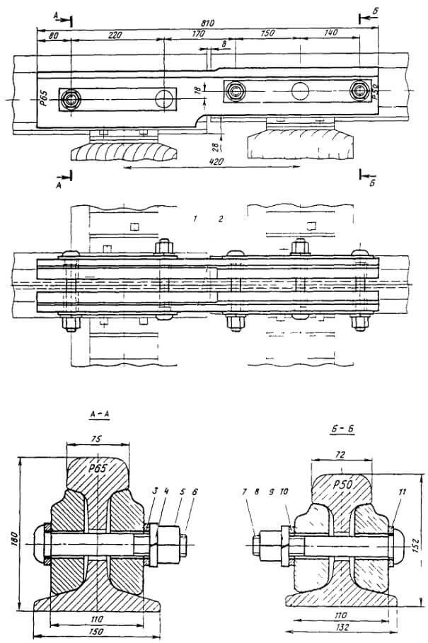 Переходная накладка Р-65/Р-50