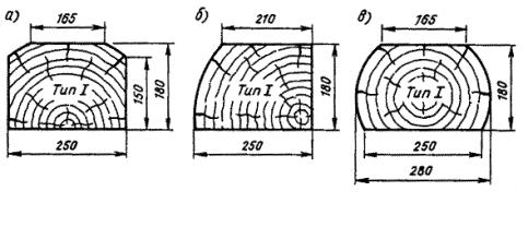 Шпала деревянная пропитанная Тип 1